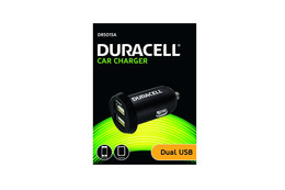 Duracell Billader 12V/24V med 2x USB-Port Sort