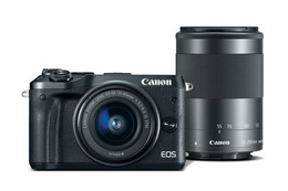Canon EOS M6 m/15-45mm IS STM + 55-200mm IS STM Sort