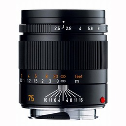 Leica Summarit-M f2.5/75mm Sort