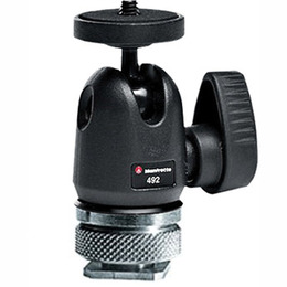 Manfrotto Micro 492LCD kulehode med hot shoe for lys/blitz