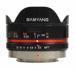 Samyang 7,5mm MFT Sort