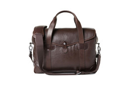 Barber Shop Medium Messenger Bob Cut - Dark Brown Leather