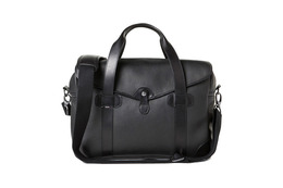 Barber Shop Medium Messenger Bob Cut - Grained Black Leather