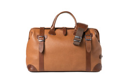 Barber Shop Traveler Bag Quiff - Grained Brown Leather