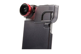 Olloclip 4-i-1 til iPhone 5/5s Rød/Sort med Quick-Flip Case