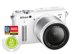Nikon 1 AW1 m/11-27,5mm AW  Adventure kit Hvit