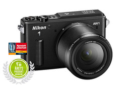 Nikon 1 AW1 m/11-27,5mm AW  Adventure kit Sort