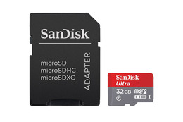 SanDisk MicroSDHC Ultra 32GB 80MB/s UHS-1 m/adapter