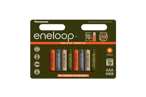 Eneloop 2100 Expedition LTD 8 stk AAA-Batterier