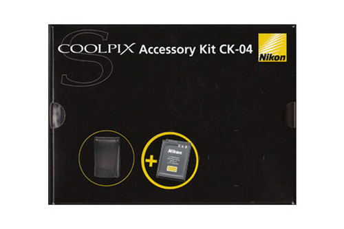 Nikon COOLPIX S Accessory kit CK-04 - Veske og batteri
