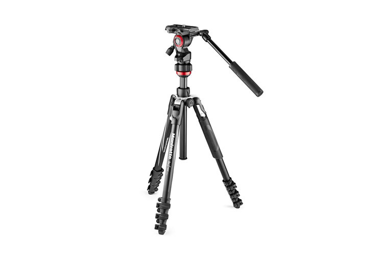 Manfrotto Video Befree Live Alu Stativkit Sort