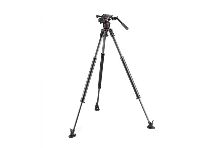 Manfrotto Nitrotech 608 + 635 Fast Single Karbon Stativ