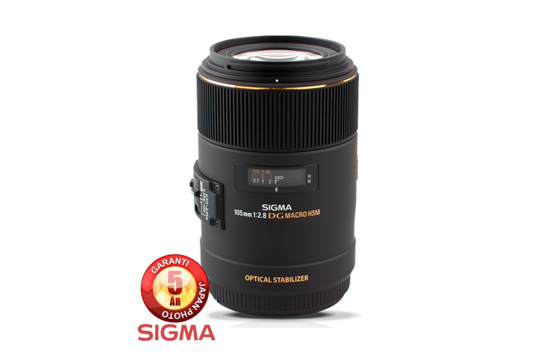 Sigma 105mm f/2.8 EX DG OS HSM for Canon B-vare